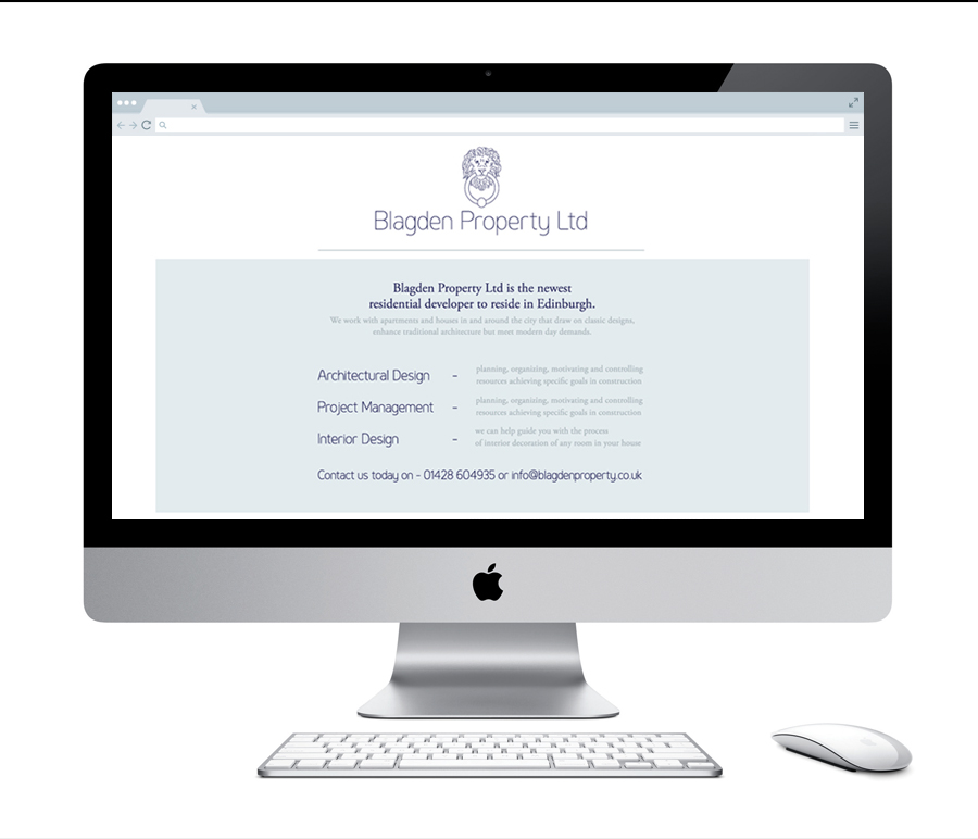 Blagden Property Ltd : Temporary Website