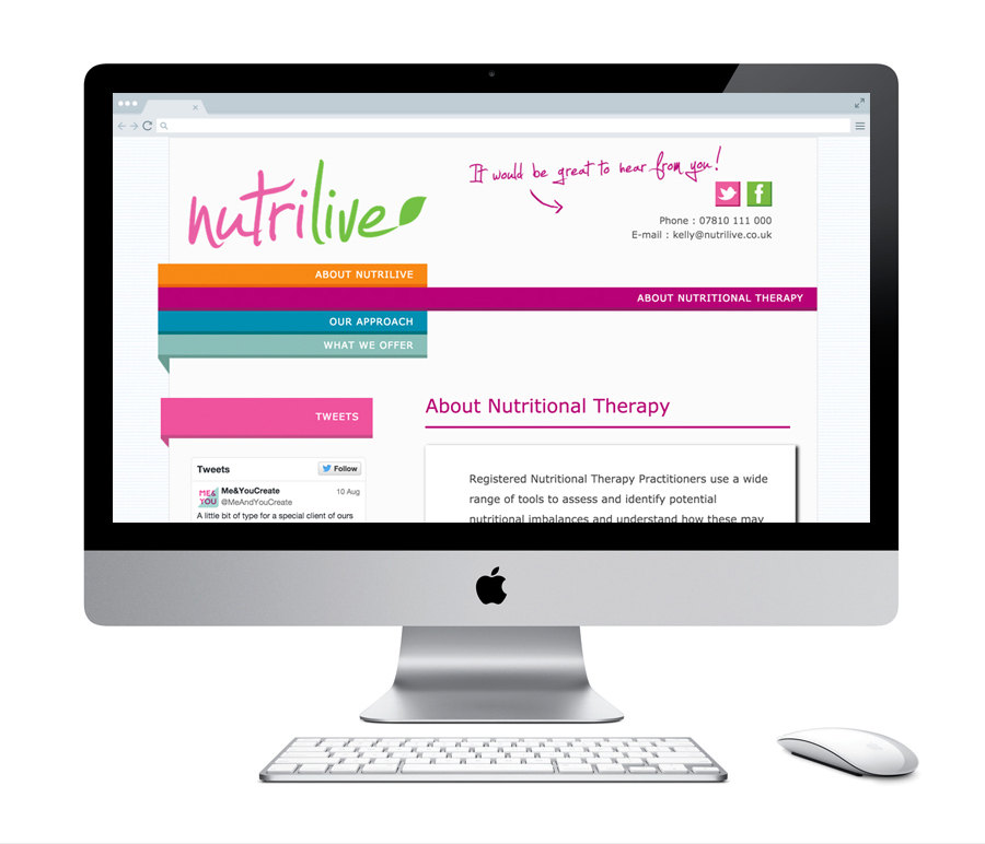 NutriLive : Website Design And Build