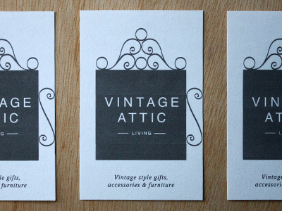 Vintage Attic Living : Business Card