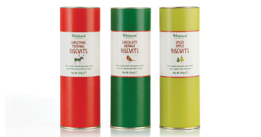 Whittard Of Chelsea : Christmas Biscuits Packaging Design