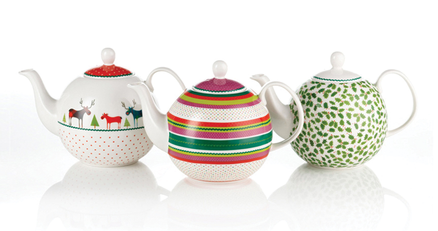 Whittard Of Chelsea : Christmas Ceramic Teapot Design