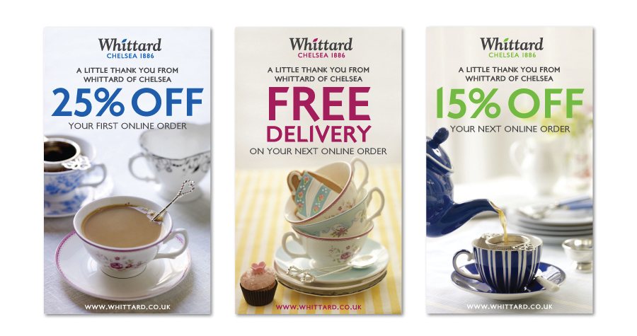 Whittard Of Chelsea : Promotional Design