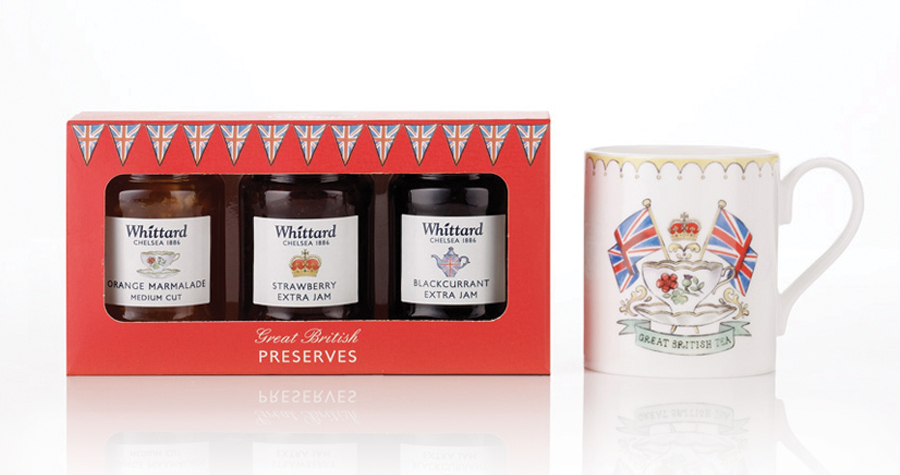 Whittard Of Chelsea : Silver  Jubilee Jam and Mug