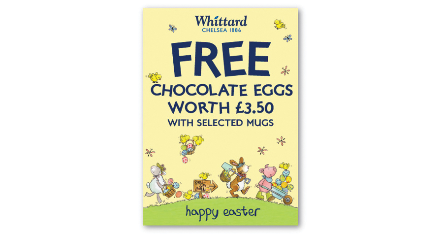 Whittard Of Chelsea : Easter Promotional Design
