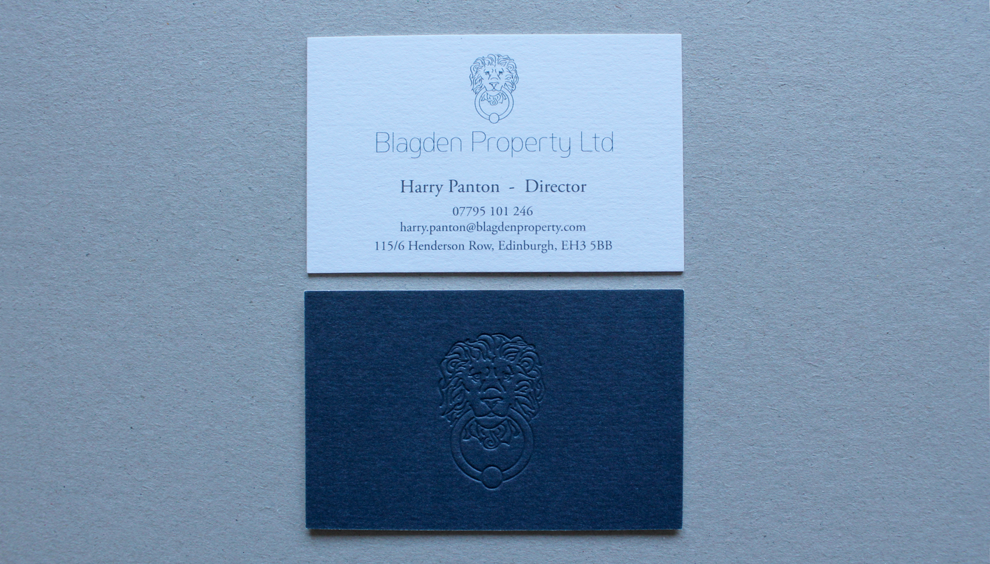 Blagden Property Ltd : Business Card