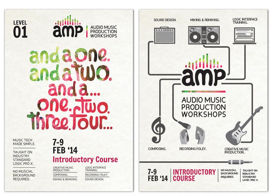 AMP Workshops : Promotional Posters