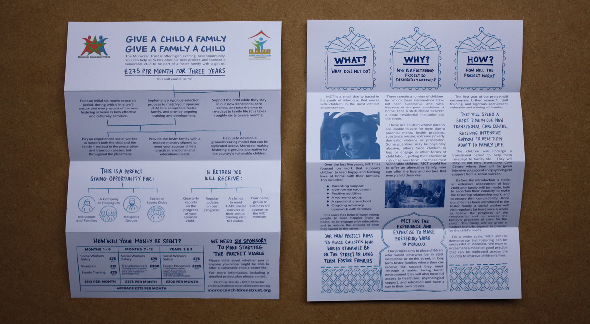 Moroccan Children's Trust. Foster Care Promotional Leaflet.