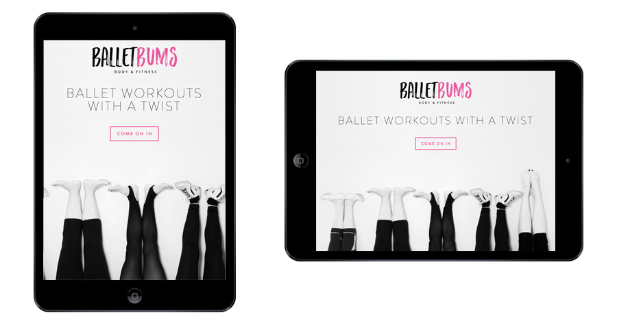Me And You Create BalletBums Website Responsive Tablet