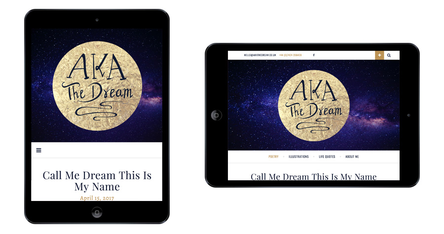 Me And You Create AKA The Dream Website Responsive Tablet