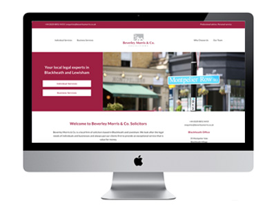 Me And You Create Beverley Morris And Co Solicitors Website Design