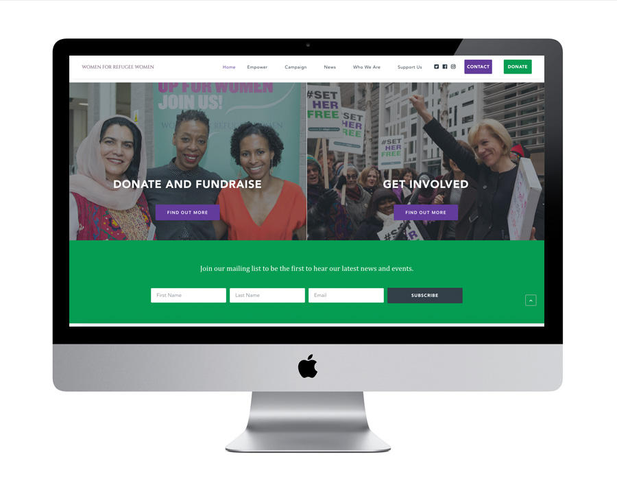 Me And You Create Women for Refugee Women website design and build