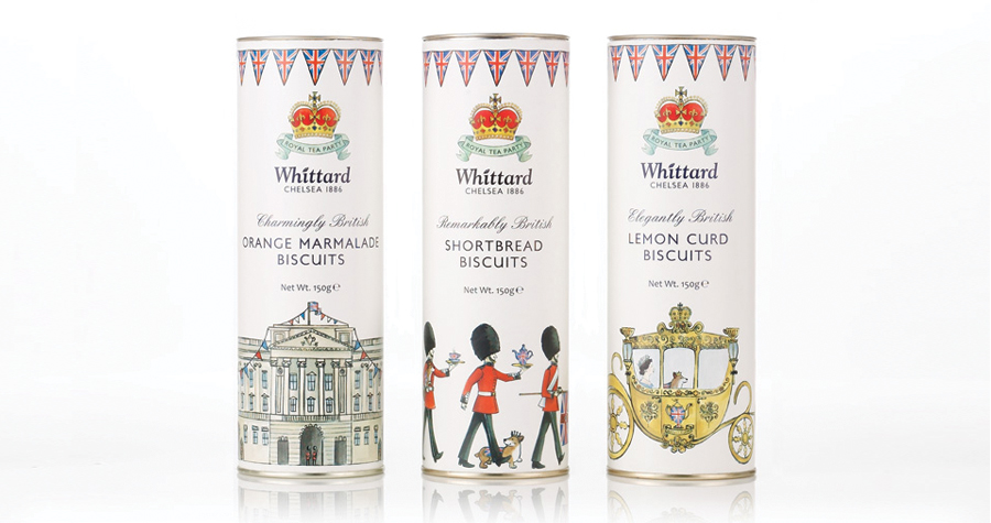Whittard Of Chelsea : Silver  Jubilee Biscuits