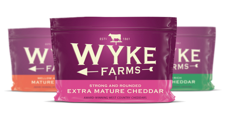 Wyke Farms Cheddar Cheese : Packaging Design