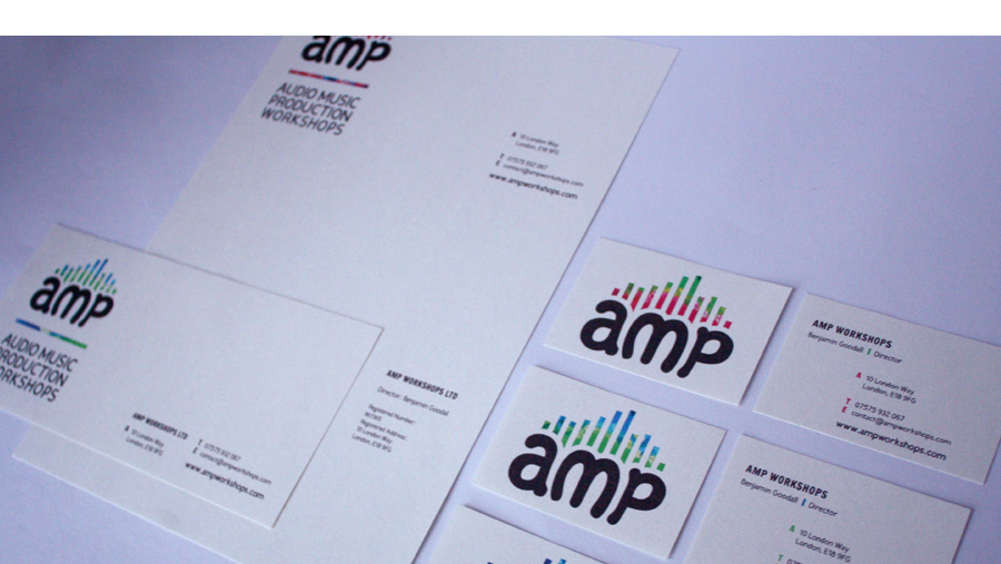 AMP Workshops : Business Card, Letterhead, Compliments Slip