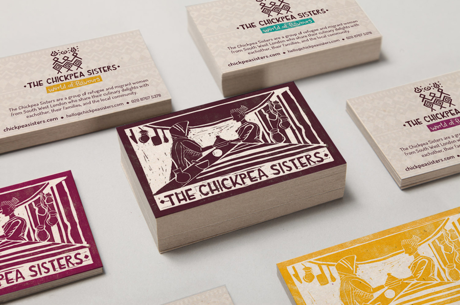 The Chickpea Sisters : Business Cards
