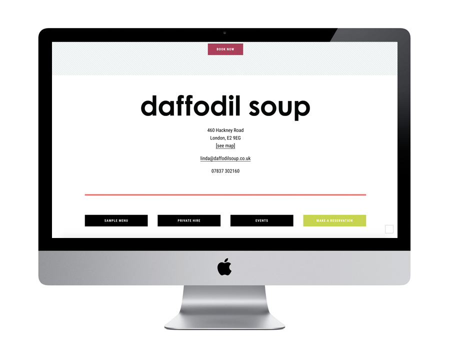 Me And You Create Daffodil Soup Restaurant Design Website