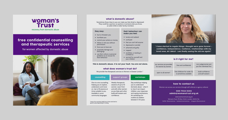 Me And You Create Counselling Support Leaflet