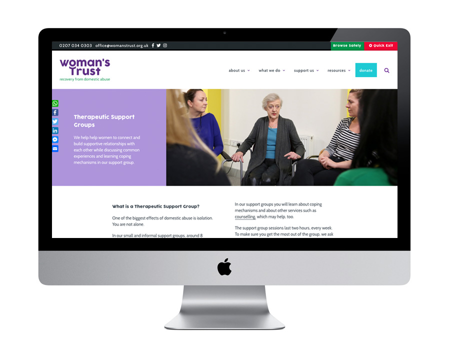 Me And You Create Woman's Trust Website Design Therapeutic Support Groups
