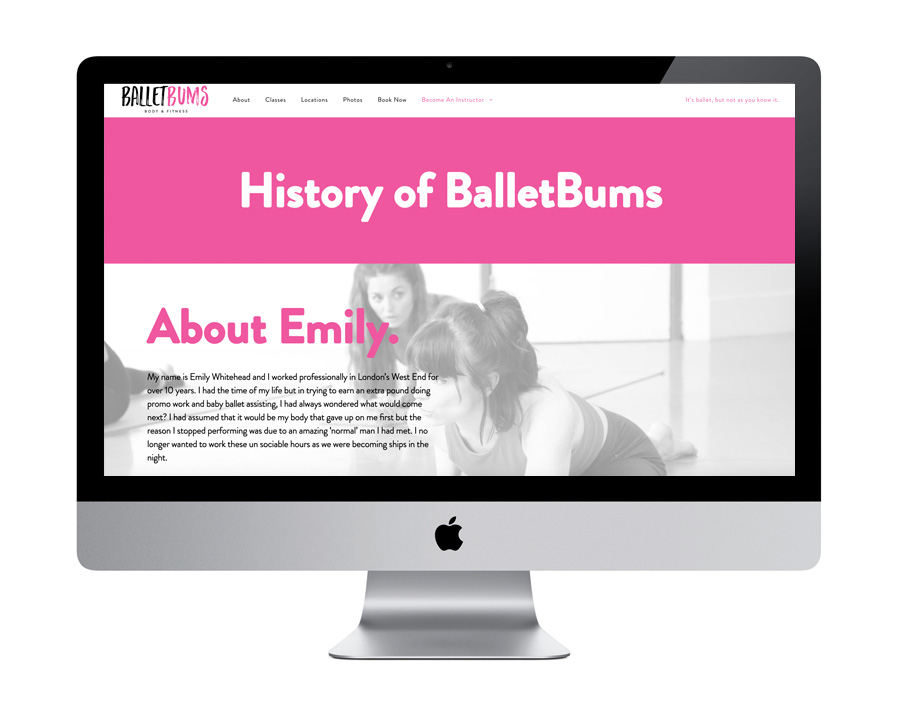 Me And You Create BalletBums Website